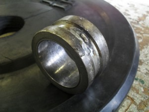 Welds have broken on bushing