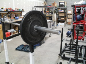 Racked Barbell