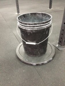 Chalk Bucket with Bumper Ballast