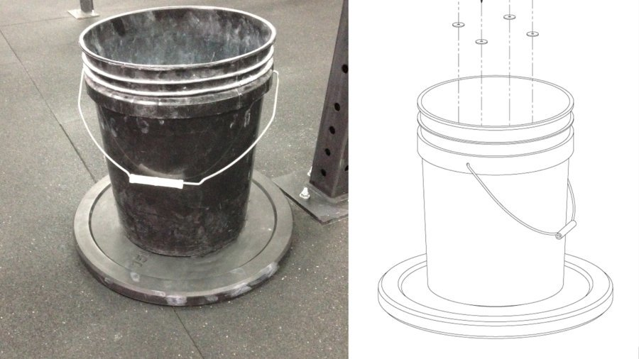 How to Recycle Bumper Plates – Add Ballast to Chalk Buckets