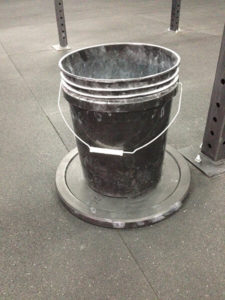 Completed Kick Proof Chalk Bucket In Use