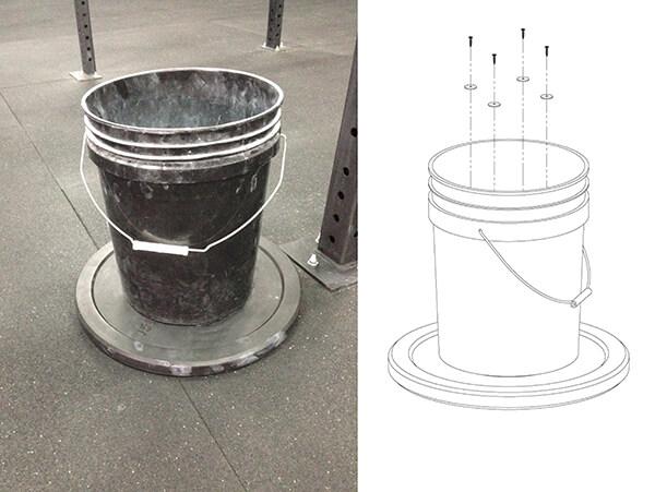 Kick Proof Chalk Bucket Illustration