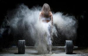 Spilled Gym Chalk Dust Cloud