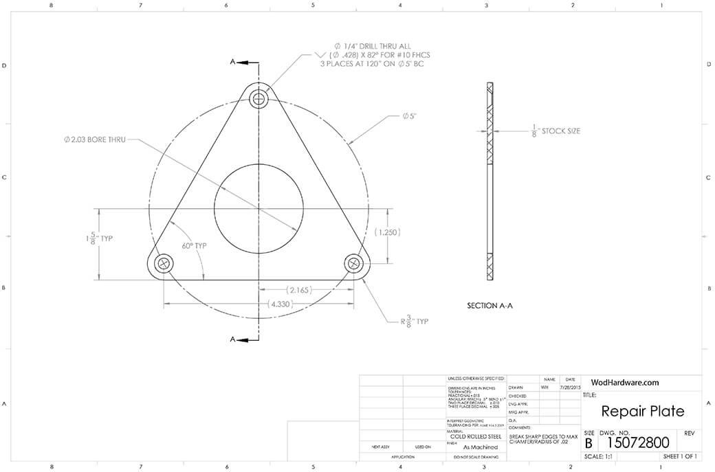 Repair plate blueprint